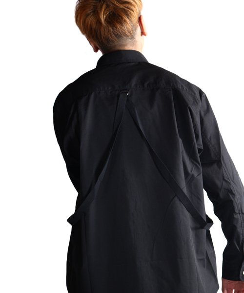 """RALEIGH / ラリー(RED MOTEL / レッドモーテル)   """"ROMANTICISM"""" DRESS CODE OR HARNESS UP SHIRTS(BK)商品画像22"""