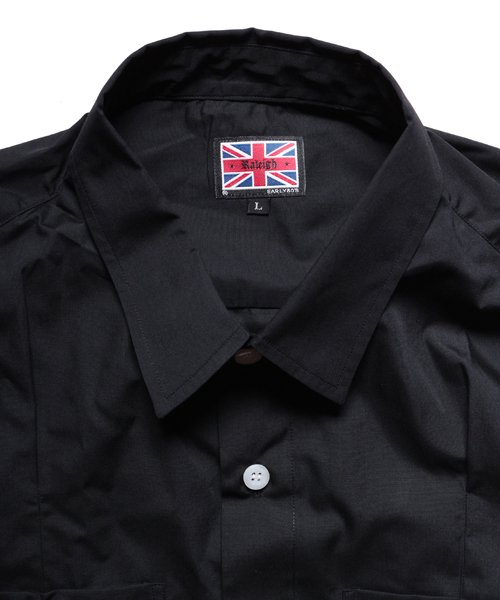 """RALEIGH / ラリー(RED MOTEL / レッドモーテル)   """"ROMANTICISM"""" DRESS CODE OR HARNESS UP SHIRTS(BK)商品画像4"""