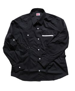"""RALEIGH / ラリー(RED MOTEL / レッドモーテル) /  """"ROMANTICISM"""" DRESS CODE OR HARNESS UP SHIRTS(BK)"""