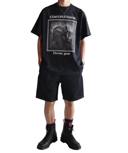 Official Artist Goods / バンドTなど  THROMBOSIS / スロンボーシス:DIVINE GOAT T-SHIRT (BLACK) 商品画像11