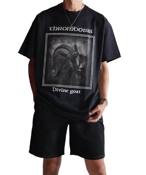Official Artist Goods / バンドTなど  THROMBOSIS / スロンボーシス:DIVINE GOAT T-SHIRT (BLACK) 商品画像13