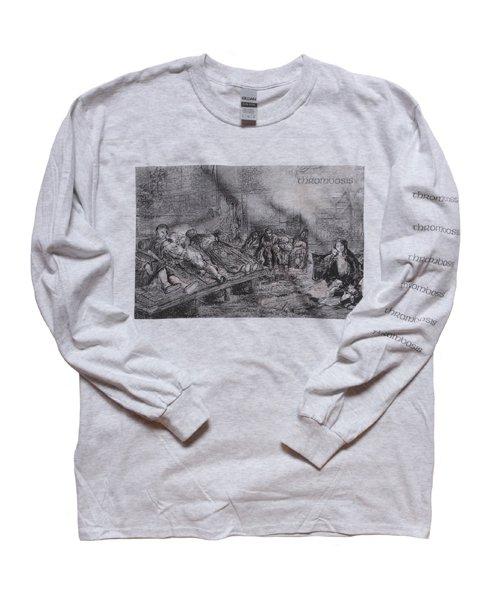 Official Artist Goods / バンドTなど | THROMBOSIS / スロンボーシス:EUPHORIC CHILL LONGSLEEVE SHIRT (ASH GRAY) 商品画像