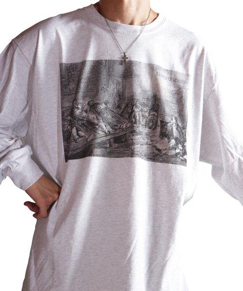 Official Artist Goods / バンドTなど |THROMBOSIS / スロンボーシス:EUPHORIC CHILL LONGSLEEVE SHIRT (ASH GRAY) 商品画像11