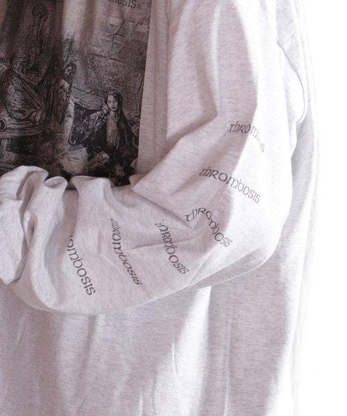 Official Artist Goods / バンドTなど |THROMBOSIS / スロンボーシス:EUPHORIC CHILL LONGSLEEVE SHIRT (ASH GRAY) 商品画像12