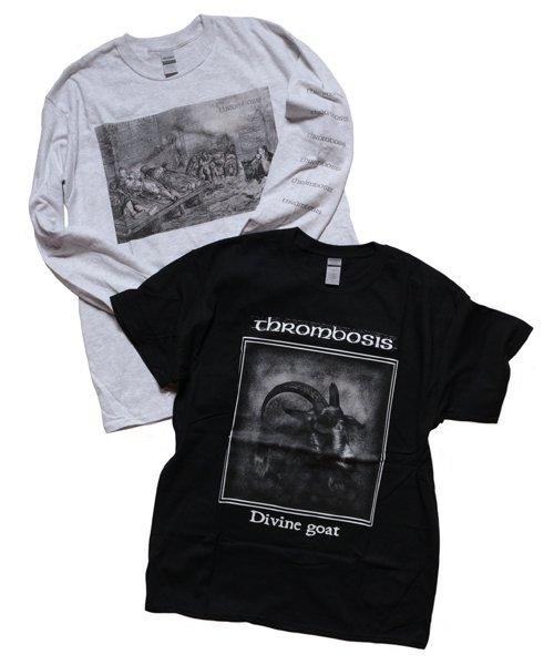 Official Artist Goods / バンドTなど |THROMBOSIS / スロンボーシス:EUPHORIC CHILL LONGSLEEVE SHIRT (ASH GRAY) 商品画像7