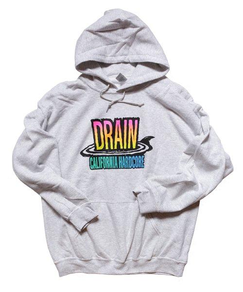 Official Artist Goods / バンドTなど  DRAIN / ドレイン:CALIFORNIA HARDCORE HOODED SWEATSHIRT (ASH GRAY) 商品画像1
