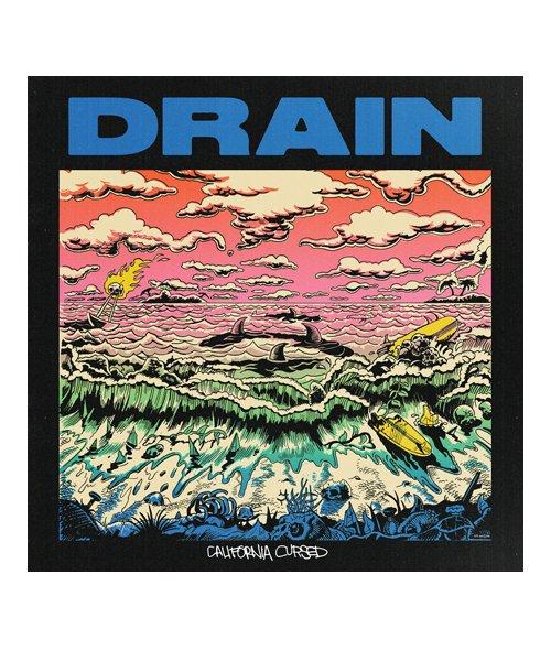 Official Artist Goods / バンドTなど  DRAIN / ドレイン:CALIFORNIA HARDCORE HOODED SWEATSHIRT (ASH GRAY) 商品画像10