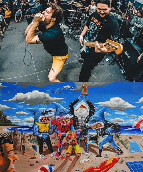 Official Artist Goods / バンドTなど  DRAIN / ドレイン:CALIFORNIA HARDCORE HOODED SWEATSHIRT (ASH GRAY) 商品画像11