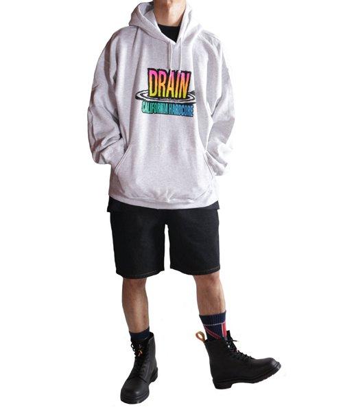 Official Artist Goods / バンドTなど  DRAIN / ドレイン:CALIFORNIA HARDCORE HOODED SWEATSHIRT (ASH GRAY) 商品画像12