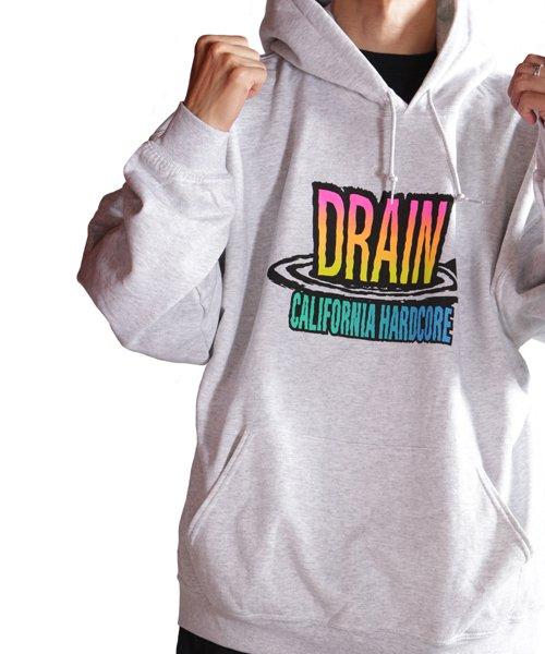 Official Artist Goods / バンドTなど  DRAIN / ドレイン:CALIFORNIA HARDCORE HOODED SWEATSHIRT (ASH GRAY) 商品画像16