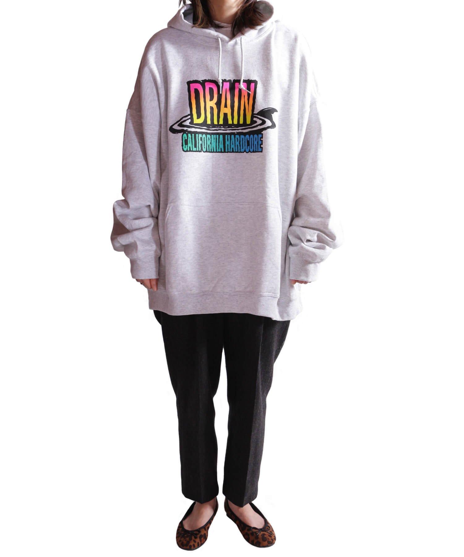 Official Artist Goods / バンドTなど  DRAIN / ドレイン:CALIFORNIA HARDCORE HOODED SWEATSHIRT (ASH GRAY) 商品画像18
