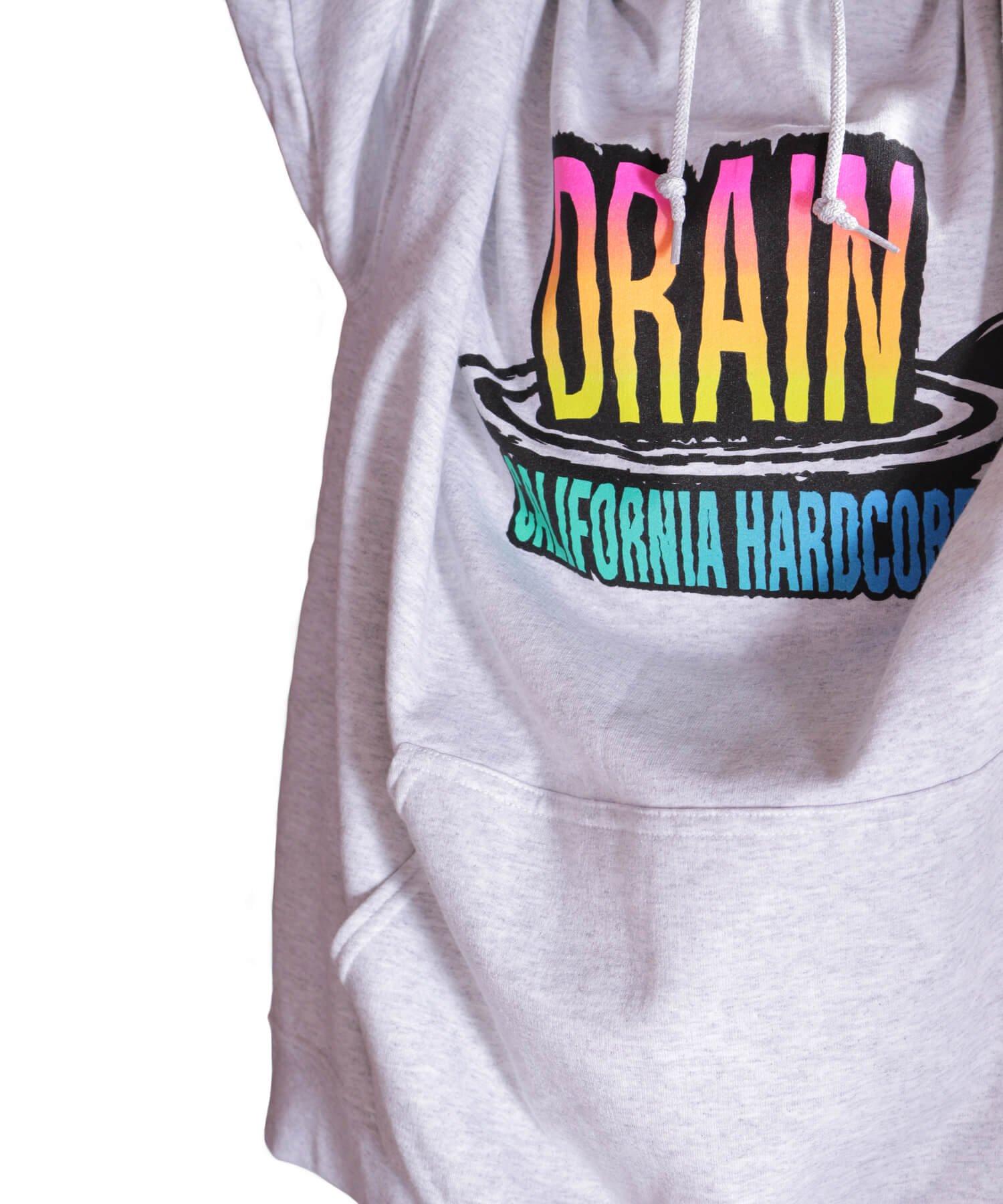 Official Artist Goods / バンドTなど  DRAIN / ドレイン:CALIFORNIA HARDCORE HOODED SWEATSHIRT (ASH GRAY) 商品画像22