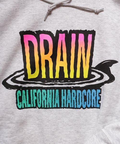 Official Artist Goods / バンドTなど  DRAIN / ドレイン:CALIFORNIA HARDCORE HOODED SWEATSHIRT (ASH GRAY) 商品画像4