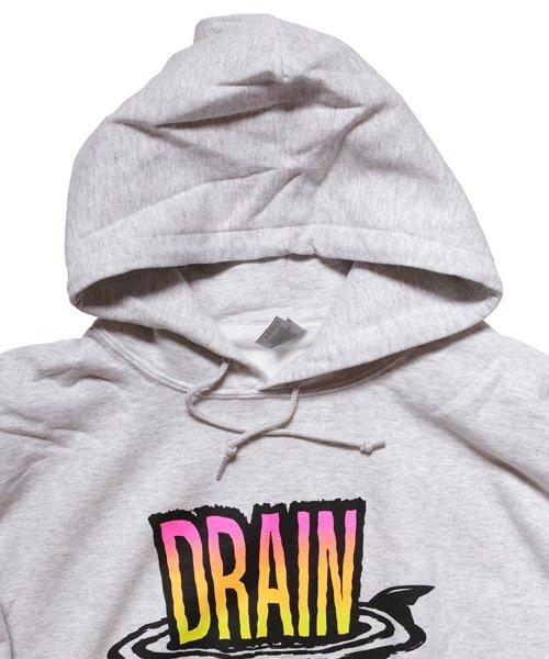 Official Artist Goods / バンドTなど  DRAIN / ドレイン:CALIFORNIA HARDCORE HOODED SWEATSHIRT (ASH GRAY) 商品画像6