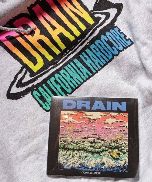 Official Artist Goods / バンドTなど  DRAIN / ドレイン:CALIFORNIA HARDCORE HOODED SWEATSHIRT (ASH GRAY) 商品画像9