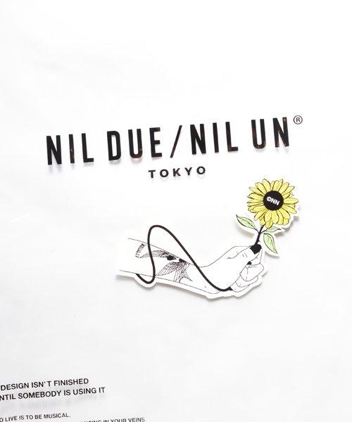 NIL DUE / NIL UN TOKYO / ニル デュエ / ニル アン トーキョー   TATTOO SWEAT TEE (USED BLACK) 商品画像7