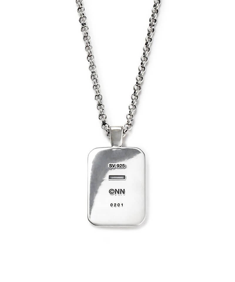 NIL DUE / NIL UN TOKYO / ニル デュエ / ニル アン トーキョー   INITIAL AQUARE NECKLACE (SILVER) 商品画像2