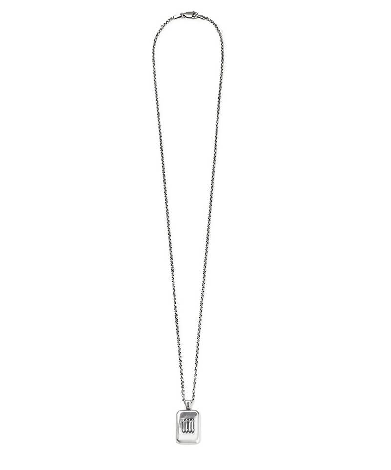 NIL DUE / NIL UN TOKYO / ニル デュエ / ニル アン トーキョー   INITIAL AQUARE NECKLACE (SILVER) 商品画像3