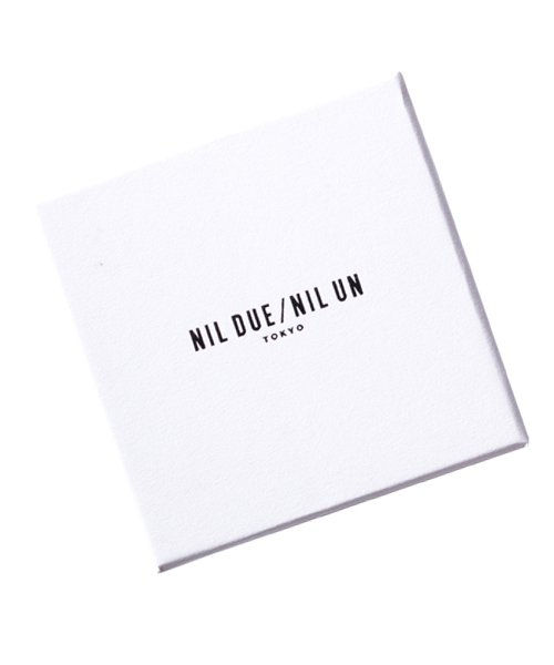 NIL DUE / NIL UN TOKYO / ニル デュエ / ニル アン トーキョー   INITIAL AQUARE NECKLACE (SILVER) 商品画像4