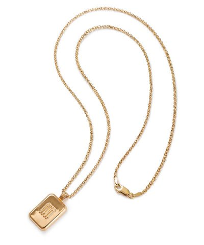 NIL DUE / NIL UN TOKYO:ニル デュエ / ニル アン トーキョー (2色展開)<br>【 INITIAL AQUARE NECKLACE (GOLD) 】