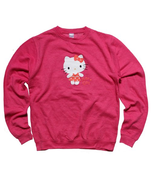 Official Artist Goods / バンドTなど   HELLO KITTY / ハローキティ:POLKA DOTS CREW NECK SWEATER (WASHED PINK) 商品画像