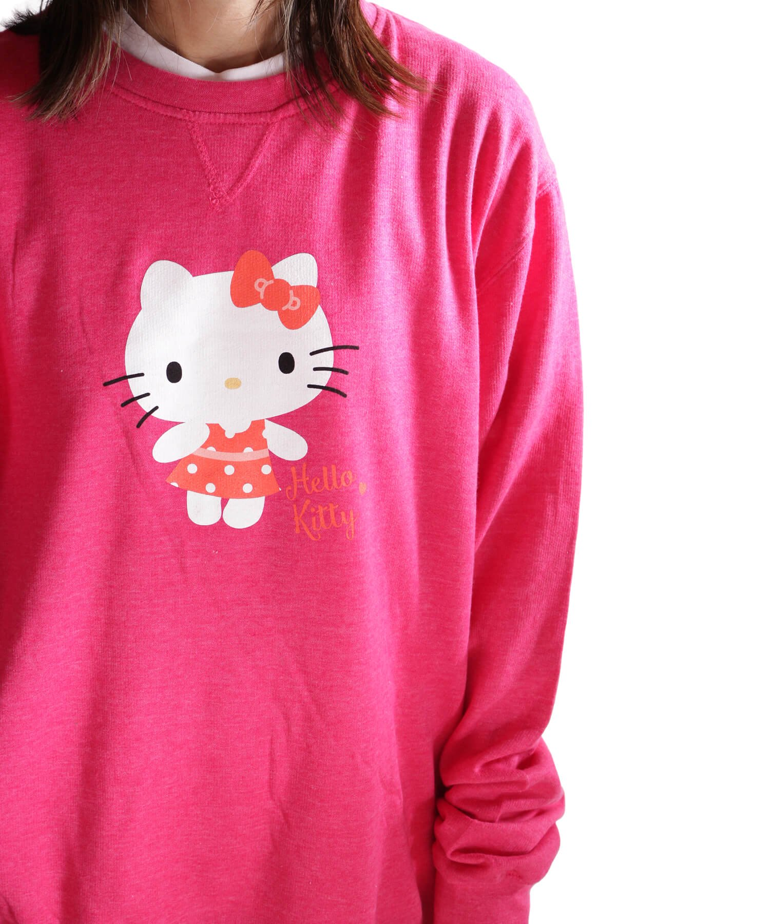 Official Artist Goods / バンドTなど  HELLO KITTY / ハローキティ:POLKA DOTS CREW NECK SWEATER (WASHED PINK) 商品画像12