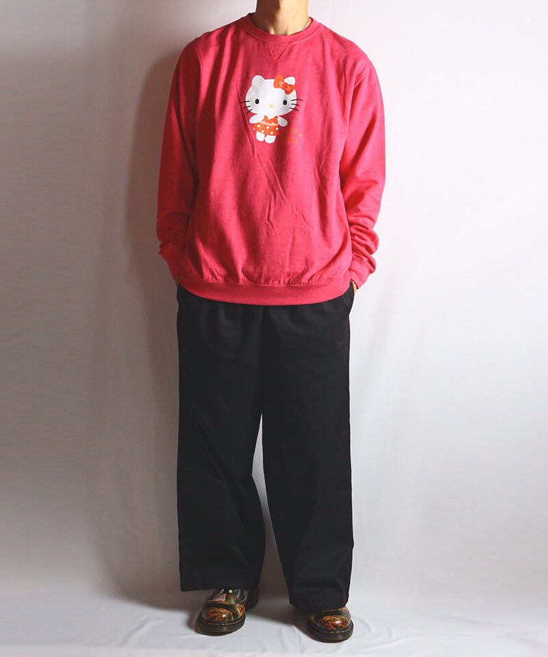 Official Artist Goods / バンドTなど  HELLO KITTY / ハローキティ:POLKA DOTS CREW NECK SWEATER (WASHED PINK) 商品画像7