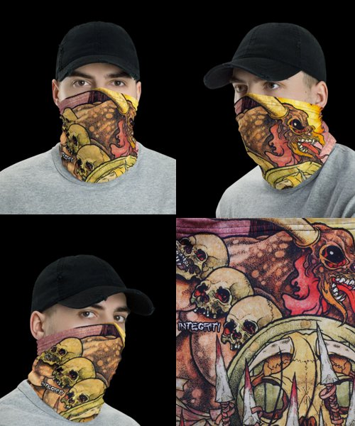 Official Artist Goods / バンドTなど |INTEGRITY / インテグリティー:HUMANITY IS THE DEVIL FACE MASK / NECK GAITER / HEAD BAND 商品画像5