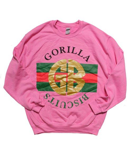 Official Artist Goods / バンドTなど   GORILLA BISCUITS / ゴリラ ビスケッツ:GUCCI CREWNECK SWEATSHIRT (GLITTER AZALEA) 商品画像