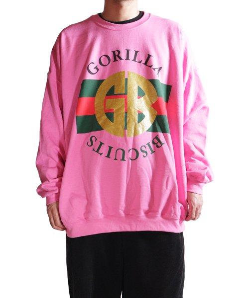 Official Artist Goods / バンドTなど  GORILLA BISCUITS / ゴリラ ビスケッツ:GUCCI CREWNECK SWEATSHIRT (GLITTER AZALEA) 商品画像12