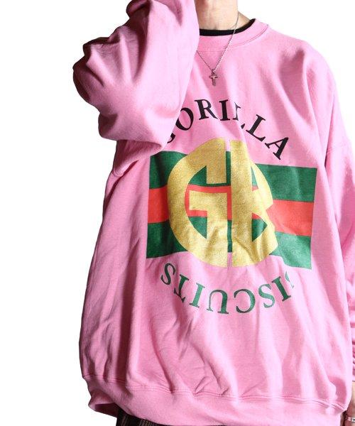 Official Artist Goods / バンドTなど  GORILLA BISCUITS / ゴリラ ビスケッツ:GUCCI CREWNECK SWEATSHIRT (GLITTER AZALEA) 商品画像15