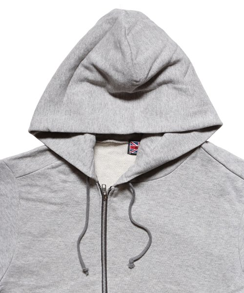 """RALEIGH / ラリー(RED MOTEL / レッドモーテル)   """"TO CUT A LONG STORY SHORT"""" ASYMMETRIC ZIP HOODIE (GY) 商品画像4"""
