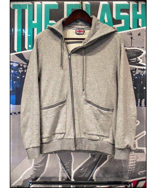 """RALEIGH / ラリー(RED MOTEL / レッドモーテル)   """"TO CUT A LONG STORY SHORT"""" ASYMMETRIC ZIP HOODIE (GY) 商品画像9"""