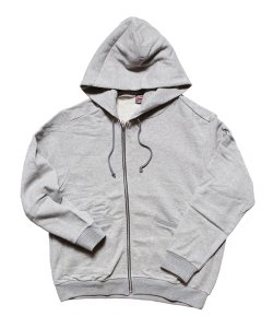 """RALEIGH / ラリー(RED MOTEL / レッドモーテル) /  """"TO CUT A LONG STORY SHORT"""" ASYMMETRIC ZIP HOODIE (GY)"""