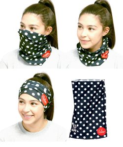 COOKMAN / クックマン /  CHE'FS SCARF DOTS (BLACK)