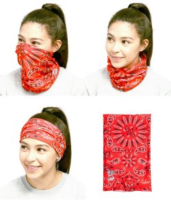 COOKMAN / クックマン /  CHE'FS SCARF PAISLEY (RED)
