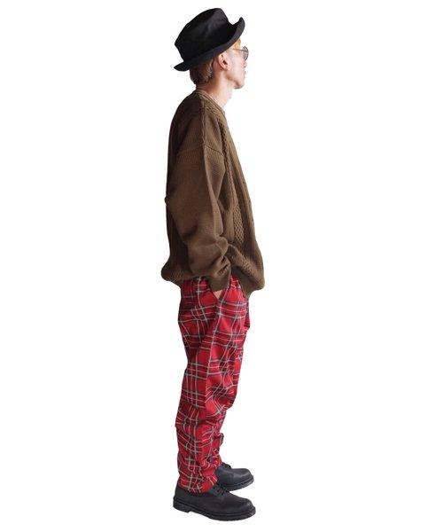 COOKMAN / クックマン | CHEF PANTS (TARTAN RED):チーフパンツ 商品画像13