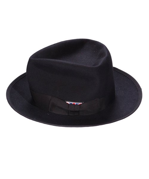 """RALEIGH / ラリー(RED MOTEL / レッドモーテル)   KISSING TO BE CLEVER """"君は完璧さ"""" FEDORA HAT / LDN1983 (BK×BK) 商品画像1"""