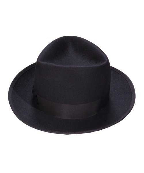 """RALEIGH / ラリー(RED MOTEL / レッドモーテル)   KISSING TO BE CLEVER """"君は完璧さ"""" FEDORA HAT / LDN1983 (BK×BK) 商品画像2"""