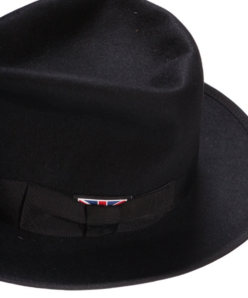 """RALEIGH / ラリー(RED MOTEL / レッドモーテル)   KISSING TO BE CLEVER """"君は完璧さ"""" FEDORA HAT / LDN1983 (BK×BK) 商品画像3"""