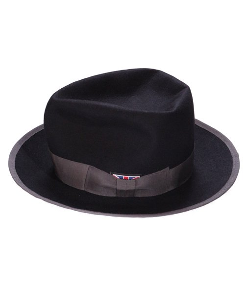 """RALEIGH / ラリー(RED MOTEL / レッドモーテル)   KISSING TO BE CLEVER """"君は完璧さ"""" FEDORA HAT / LDN1983 (BK×GY) 商品画像1"""
