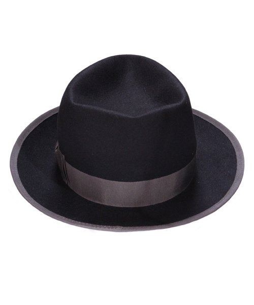 """RALEIGH / ラリー(RED MOTEL / レッドモーテル)   KISSING TO BE CLEVER """"君は完璧さ"""" FEDORA HAT / LDN1983 (BK×GY) 商品画像2"""