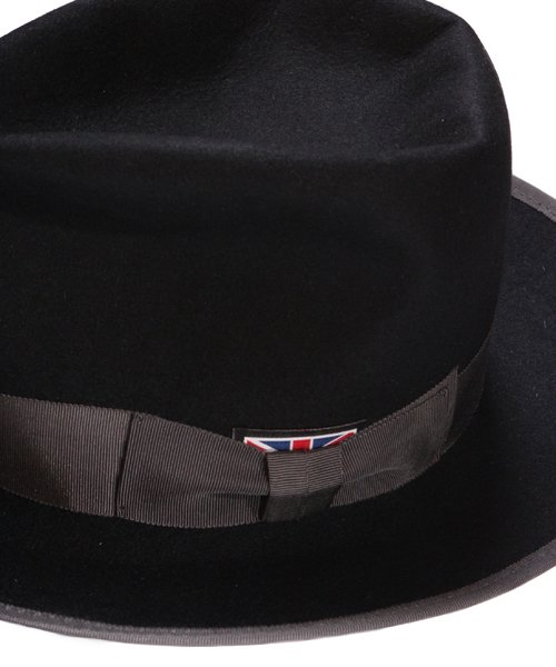 """RALEIGH / ラリー(RED MOTEL / レッドモーテル)   KISSING TO BE CLEVER """"君は完璧さ"""" FEDORA HAT / LDN1983 (BK×GY) 商品画像3"""