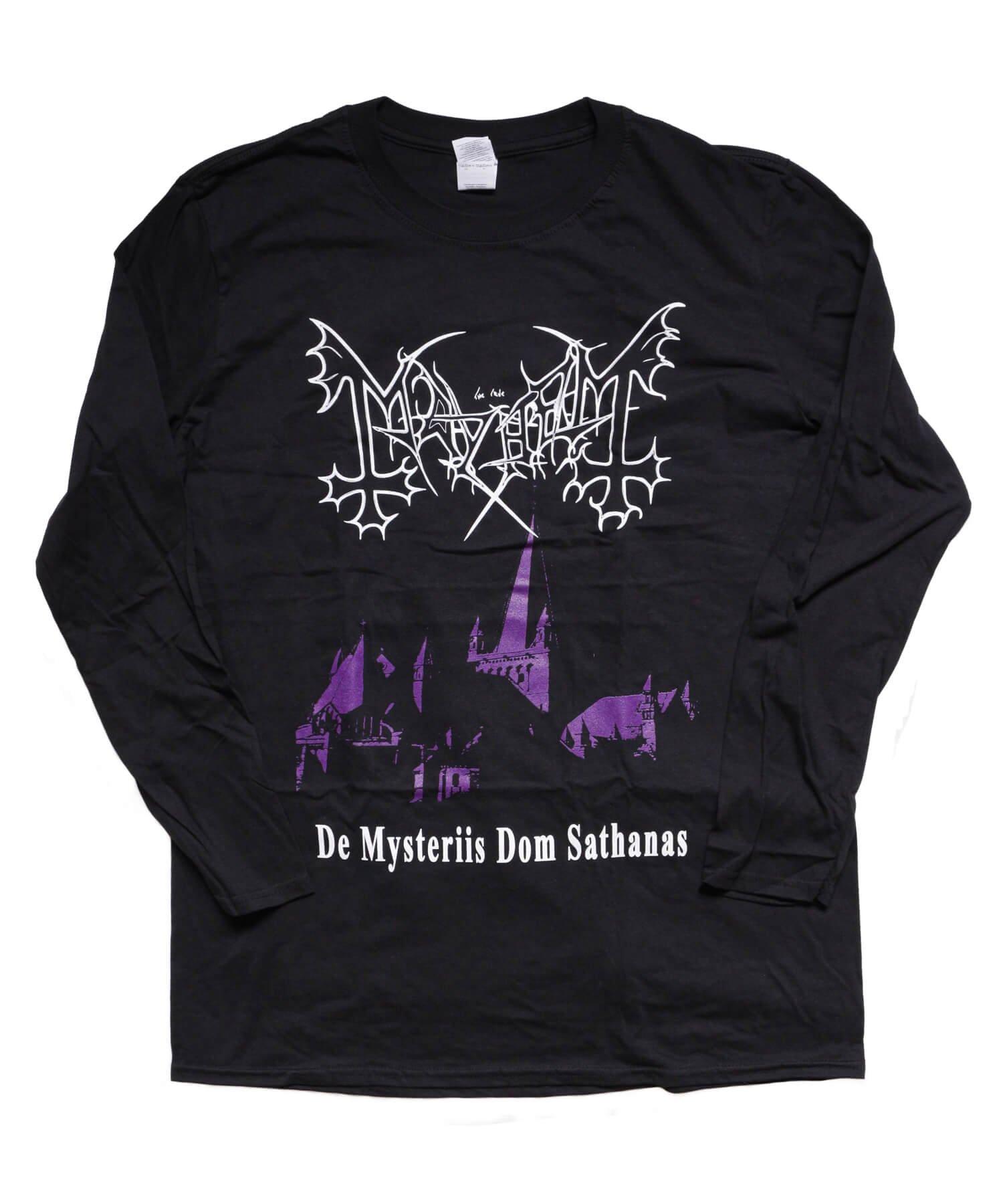 Official Artist Goods / バンドTなど |MAYHEM / メイヘム:DE MYSTERIIS DOM SATHANAS LONG SLEEVE SHIRT (BLACK) 商品画像1