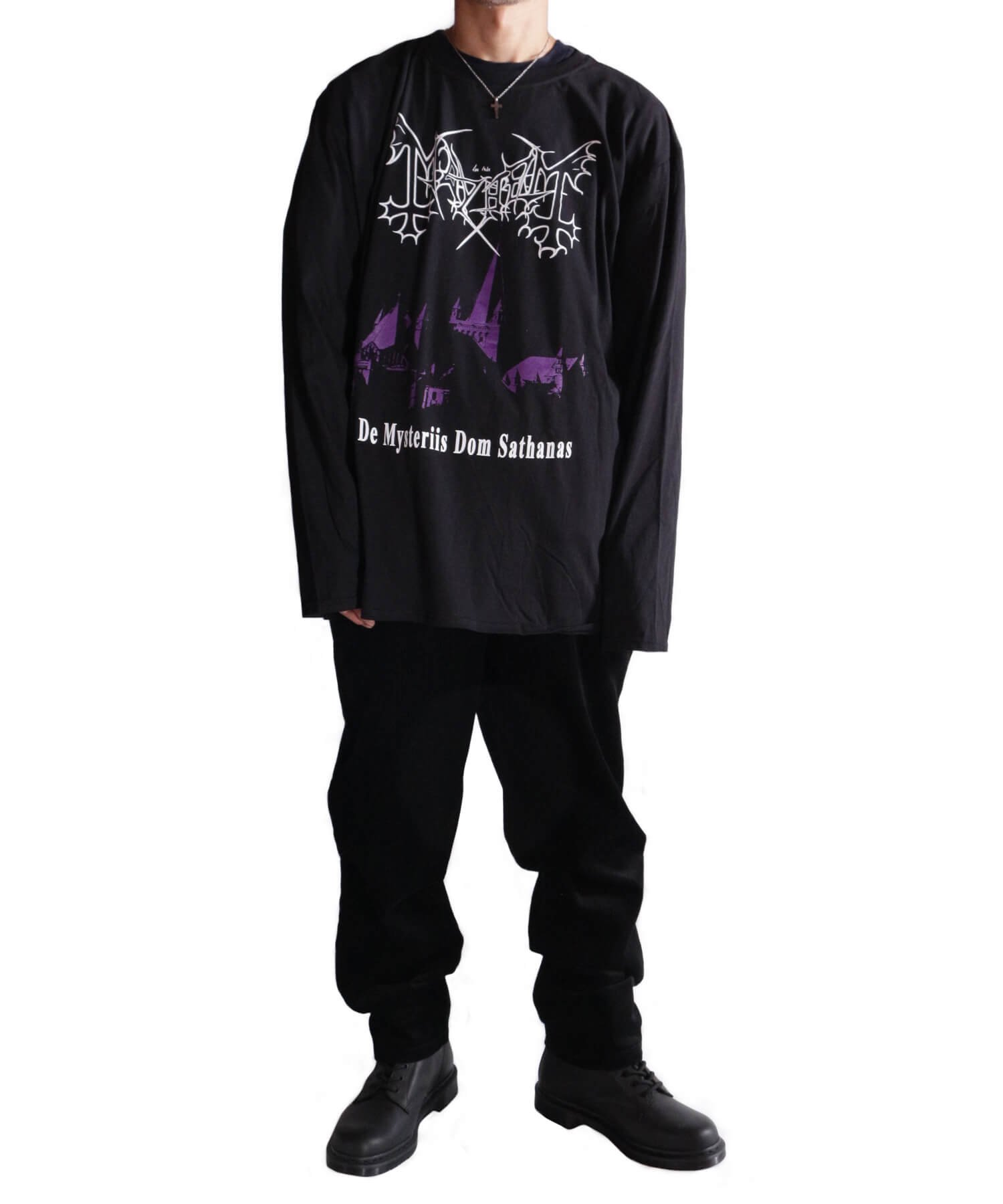 Official Artist Goods / バンドTなど |MAYHEM / メイヘム:DE MYSTERIIS DOM SATHANAS LONG SLEEVE SHIRT (BLACK) 商品画像11