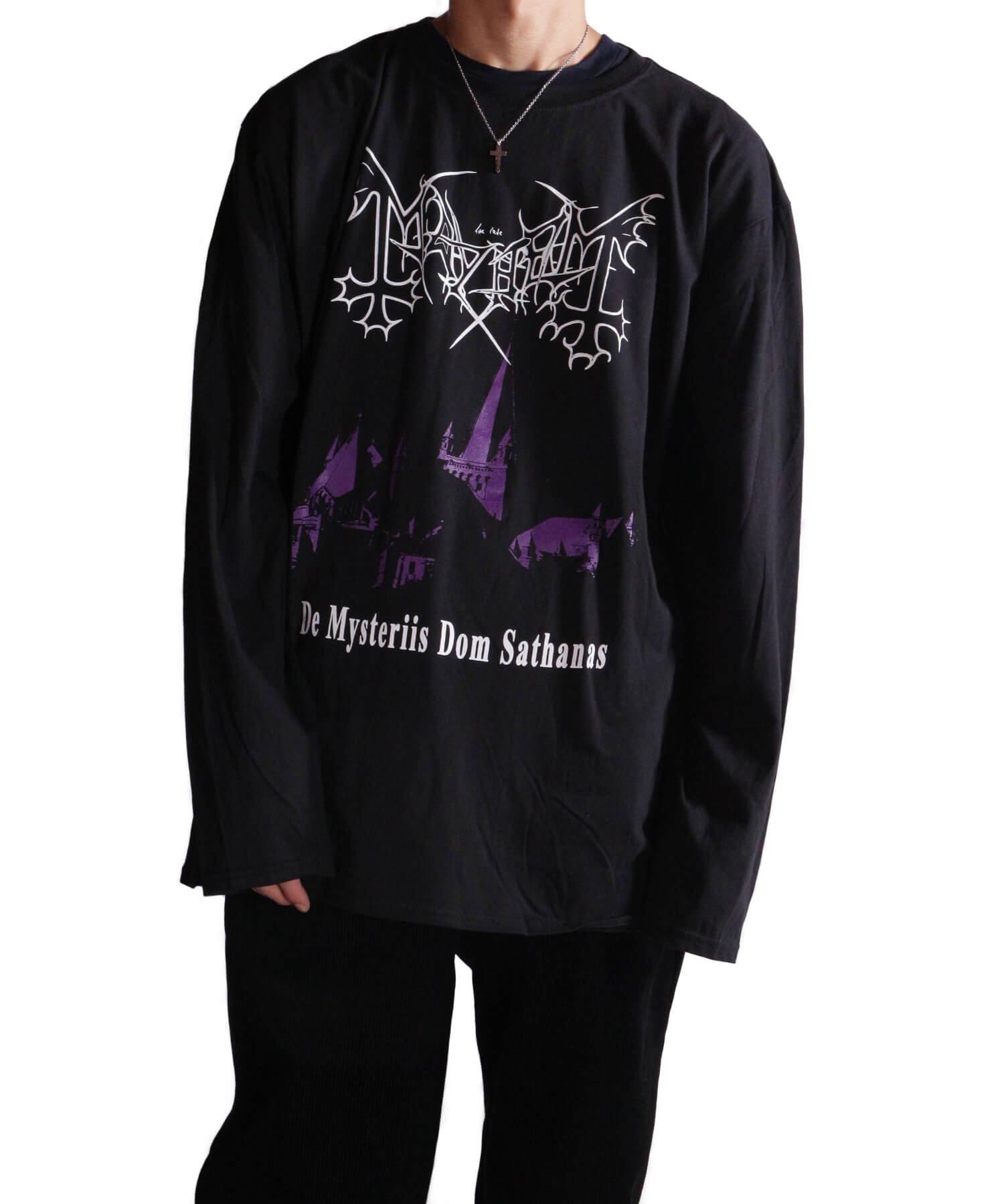 Official Artist Goods / バンドTなど |MAYHEM / メイヘム:DE MYSTERIIS DOM SATHANAS LONG SLEEVE SHIRT (BLACK) 商品画像13
