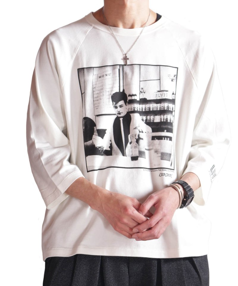 RALEIGH / ラリー(RED MOTEL / レッドモーテル)   RBC WORLD NEWS 3/4 SLEEVE T-SHIRTS (Loose Fit / WH) 商品画像11