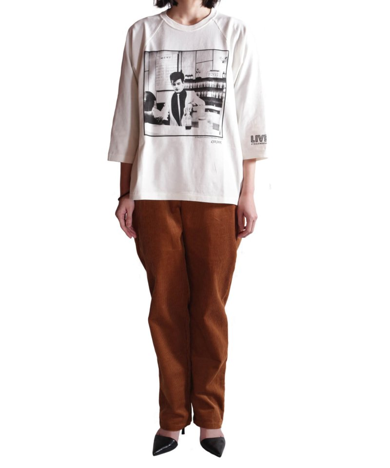 RALEIGH / ラリー(RED MOTEL / レッドモーテル)   RBC WORLD NEWS 3/4 SLEEVE T-SHIRTS (Loose Fit / WH) 商品画像12