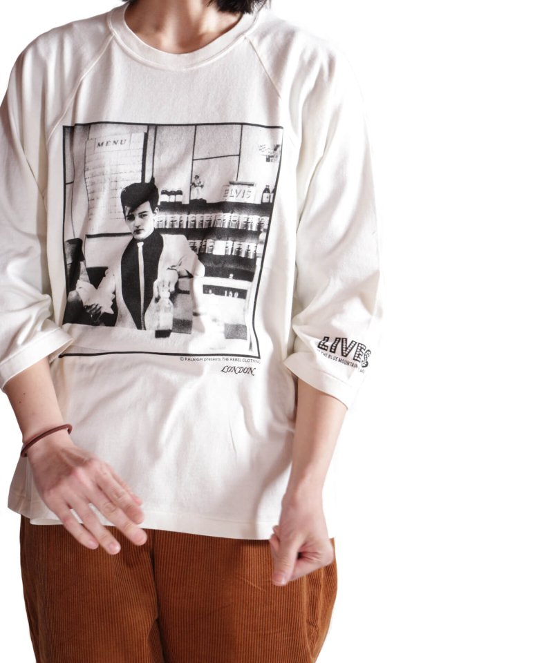RALEIGH / ラリー(RED MOTEL / レッドモーテル)   RBC WORLD NEWS 3/4 SLEEVE T-SHIRTS (Loose Fit / WH) 商品画像14