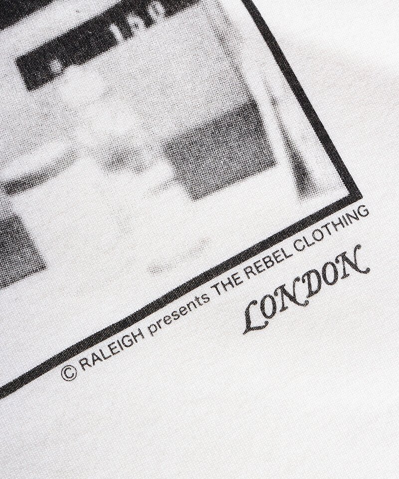 RALEIGH / ラリー(RED MOTEL / レッドモーテル)   RBC WORLD NEWS 3/4 SLEEVE T-SHIRTS (Loose Fit / WH) 商品画像5